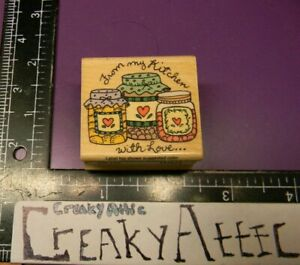 FROM THE KITCHEN OF LOVE CANNING JARS RUBBER STAMPS HERO ARTS C256 CREAKYATTIC