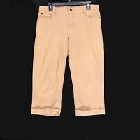 Chaps Women's Tan Cropped Capri Pants - Size 8