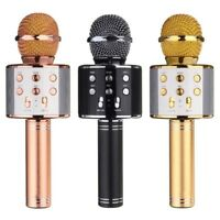 Portable Wireless Bluetooth Karaoke Machine Microphone KTV Remix USB BT AUX