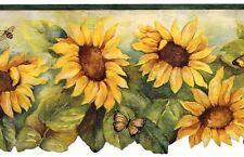 Sunflower with Dark Green Edge Wallpaper Border BG71362DC