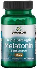 SWANSON MELATONI 10mg 60 Kapseln Schlaf Stress Schlaflosigkeit Schlafen Erholung
