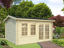 Palmako Gartenhaus Iris 11,1 m² Holz Satteldach Gerätehaus Blockhaus Laube
