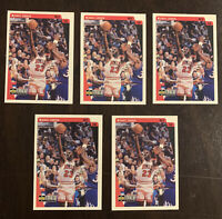 LOT OF 5 MICHAEL JORDAN 1997 UD COLLECTOR'S CHOICE #23 (1 CARD HAS VARIANT #C86)