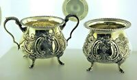Sugar & Candy Dish Set Sterling Silver By Fina Cr.1930. Best Deal
