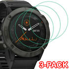 3-PACK For Garmin Fenix 6 6X 6S Pro 5 5X 5S 3 Screen Protector 9H Tempered Glass