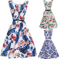Women Vintage 50s 60s Rockabilly Retro Pinup Swing Prom Ball Party Evening Dress