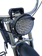 "Custom Bicycle HeadLight 5-3/4"" Bates Style Visor Wire-up Bikes"