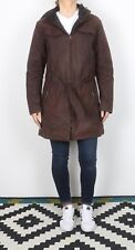 BARBOUR Cameron Wax Jacket UK 16 XL Brown Hooded Quilt lined (KEG)