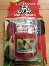 Yankee Candle Cranberry Pear Ultimate Car Jar Air Freshener FREE P&P