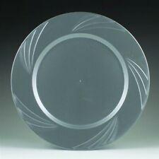 "Newbury Silver Plastic Dinner Plates 10.75"" (15 Pack )"