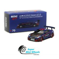 Mini GT 1:64 LB Works Nissan GT-R #70 - 40th Anniversary Edition By INTERSPORT