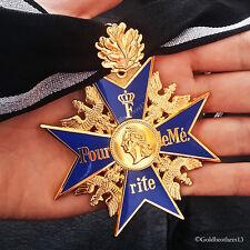 GRAND Versare Le Merite 24k Placcati Oro Con Quercia Foglia Blu Max Massima