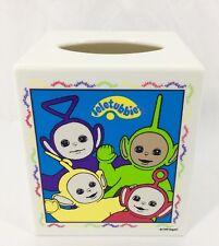Vtg 1999 BBC Ragdoll TELETUBBIES Tissue Box Holder Cover Tinky Winky Dipsy Po La