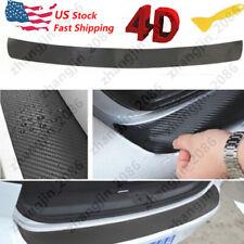 4d Carbon Fiber Trunk Protection Strip Rear Guard Bumper Sticker Panel Protector