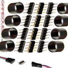 LED RGB SET 4x Stecker 8x Buchse Schrumpfschlauch Kleber Verbinder Strip Kabel