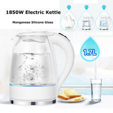 1.7L Blue LED Illuminated Glass Kettle 360° Cordless Electric Rapid Boil  !!!