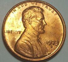 1973 D Lincoln memorial Penny Struck Through Grease Obverse Error Coin