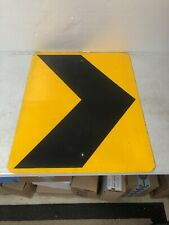 Extra Large Authentic Retired Texas Curve Arrow Reflective Highway Sign
