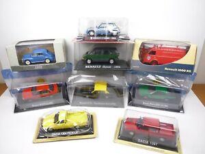 KAS21 LOT de 9 voitures RENAULT 1/43 Collection cassés broken models rotos