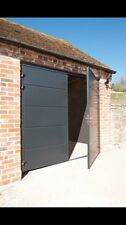 Modern 40mm Insulated Side Hinged Garage Door Steel Side Hung Opening Contempory