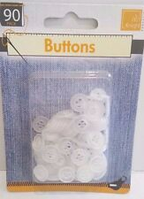 PACK OF 90 WHITE T-SHIRT BUTTONS