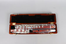 New flute 17 hole Open Silver Plated Key E key B Foot Professional rosewood body
