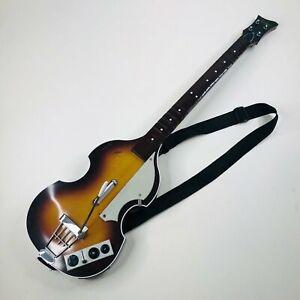 Harmonix Wii Guitar Controller Rockband Beatles Bass Hofner Nintento Guitar Hero