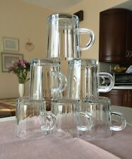 ROCCO BORMIOLI  SET OF 6 VITROSAX GLASS CAPPUCCINO/ESPRESSO MUGS, MADE IN ITALY