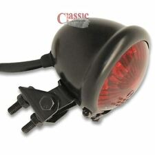 Motorcycle Custom Streefighter LED Bates Rear Stop Tail Light Black Red Lens