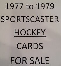 1977-79 HOCKEY Sportscaster cards $0.99 ea- Many Teams and players