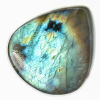 Cts. 17.60 Natural Blue Fire Labradorite Cabochon Heart Cab Loose Gemstones