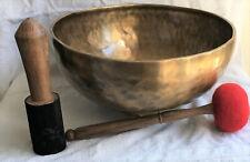 Extra Large 3kg Singing Bowl Set,healing,meditation Fully Hand-hammered,G Note