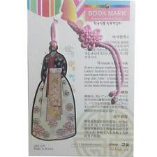 Beauty Traditional Korean Metal Bookmark Pretty Womens Hanbok No.110