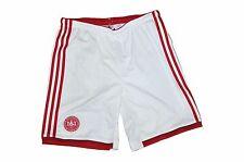 adidas Dänemark Herren Short Hose Sporthose Gr. M weiß rot Shorts mit Innenslip