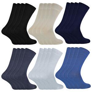 SOCK SNOB - 4 Pairs Unisex Bamboo Finely Knit Thin Super Soft Suit Dress Socks