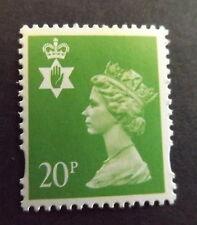 GB QEII Northern Ireland. SG NI71 20p Bright Green CB. Regional Stamp MNH