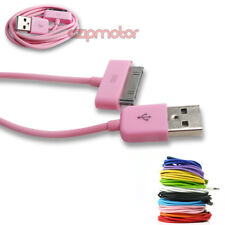 20X 10FT 30PIN USB SYNC POWER CHARGER PINK CABLE CONNECTOR IPHONE 4S IPOD IPAD