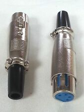 1x Connector XLR 4 pin Female Jack In-line 4-Pin Microphone USA Free Shipping