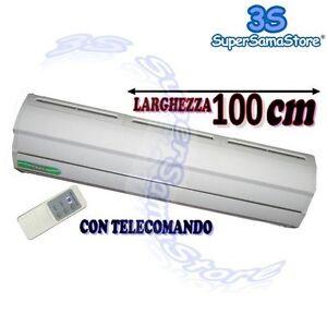 3S NUOVA BARRIERA LAMA D'ARIA IN METALLO 100 CM - 1 MT 220 V per PORTA NEGOZIO