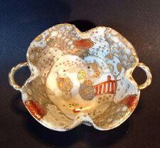 Nippon Satsuma Small Handled Bowl - Hand Painted Imari With Children - Japan