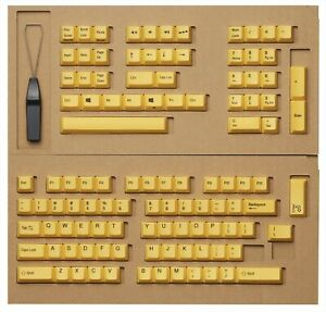 Topre REALFORCE R2 Series English Replacement Key Top Set Yellow 108 R2-US-KT-YE