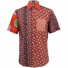 Mens Loud Shirt Retro Psychedelic Funky Party REGULAR Red Mixed Random