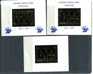 Manama 3 Gold Foil SS Mi Bl 89/202 (1 Inverted frame ) MNH see description10550