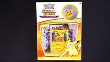 More details for pokemon shining legends pikachu pin collection box new 3 sealed booster packs