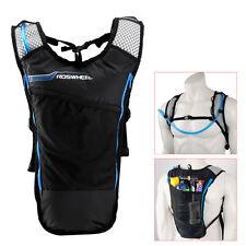 5L Bike Hydration Pack Backpack Rucksack + 2L Water Bag Bicycle Cycling Hiking