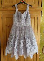 Chi Chi London Elisha Lilac Purple Prom Party Evening Bridal Dress Size 12