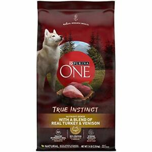 Purina ONE High Protein Natural Dry Dog Food SmartBlend True Instinct With Re...