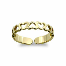 9ct Gold Toe Ring - Love Heart Pattern - Dainty -