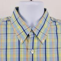Brooks Brothers 346 Slim Fit Non Iron Check Plaid Mens L/S Button Shirt Sz Large