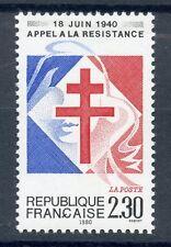 STAMP / TIMBRE FRANCE NEUF N° 2656 ** APPEL A LA RESISTANCE LE 18 JUIN 1940